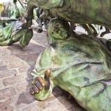 Statue of Encierros in Pamplona, Spain Stock Photos