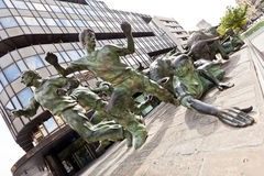 Statue of Encierros in Pamplona, Spain Royalty Free Stock Images