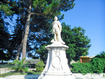 Statue. In the entrance of the old fortress of Corfu island Greece Royalty Free Stock Photo