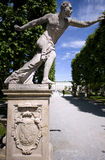 Statue of the entrance to the Mirabell garden in Salzburg Stock Photo