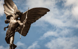 Statue of Eros, Piccadilly Circus, London landmark Stock Photography