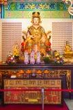 Statue et autel de déesse de Shui Wei Sheng Niang dans le tem chinois Image stock