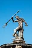 Statue et fontaine de Neptune à Danzig, Pologne Photos libres de droits