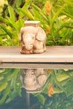 Statue et ombre d'éléphant Photos stock