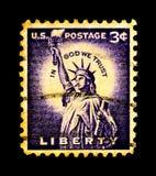 statue Etats-Unis d'estampille de liberté Photo stock