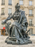 Statue of Europe in front of d`Orsay Museum Royalty Free Stock Photo