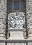 Statue of Europe. Natural History Museum in Vienna. Allegorical statue of America and Australia on the facade of Museum of Natural History of Vienna ( Royalty Free Stock Images