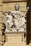 Statue of Europe, Natural History Museum in Vienna Royalty Free Stock Photo