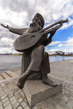 Statue of Evert Taube in Stockholm. Royalty Free Stock Photo