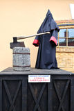 Statue of executioner standing at the scaffold in Peter and Paul Fortress Royalty Free Stock Photography
