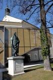 The statue of F. Schiller in Salzburg, Austria Stock Photo