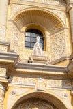 Statue at the facad of La Merced Church in Antigua, Guatema. La royalty free stock photos