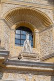 Statue at the facad of La Merced Church in Antigua, Guatema. La royalty free stock images
