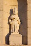 Statue on the Facade of a Country Church Stock Photos