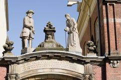 Statue on facade Stock Photos