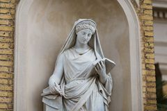 Statue in facade of palace in Sans Souci Stock Image