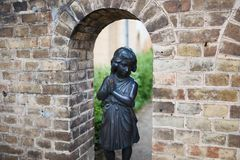 Statue in facade of palace in Sans Souci Royalty Free Stock Images