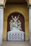 Statue in facade of palace in Sans Souci Royalty Free Stock Photo