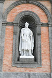 Statue on facade of the Palazzo Reale Stock Photos