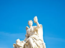 Statue at facade of Versailles Chateau entrance. In France , Europe Stock Photos