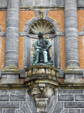 Statue on the facade of the West Norway Museum Stock Photo