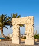Statue of Faith in Abrasha Park, Old Yaffo, Israel Stock Photography