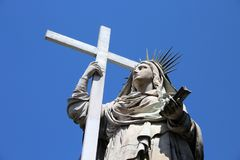 Statue of Faith or Religion , monumental cemetery of Genoa, Italy. Statue of Faith or Religion , monumental cemetery of Genoa, Italy, one of the most important Stock Photos