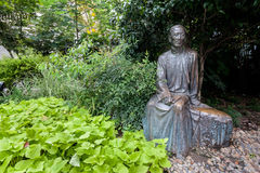 Statue a famous Chinese writer Rou Shi on Duolun Road, Shanghai Royalty Free Stock Photography