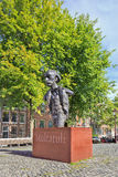 Statue of famous Dutch writer on a square, Amsterdam, Netherlands Stock Photos