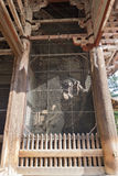 Statue in the famous and historical TodaiJi of Nara Park Royalty Free Stock Photography