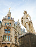 Statue of the famous painter Anthony Van Dyck in Antwerp Stock Photography