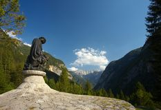 Statue of Julius Kugy. Statue of a famous slovenian climber and botaniste Julius Kugy Royalty Free Stock Image