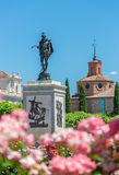 Statue of famous spanish writer Miguel Cervantes Stock Photo