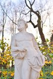 Statue of Fate. Statue of Fate in Summer Garden at autumn evening, St.Petersburg, Russia royalty free stock images