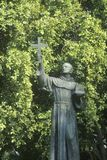 A statue of Father Sierra in Los Angeles California Royalty Free Stock Images