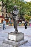 Statue Federico García Lorca in Madrid Stock Image