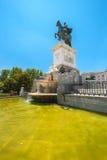 Statue of Felipe IV in Madrid Stock Photo