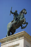 Statue of Felipe IV. Oriente square Madrid. Spain Stock Images