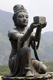 Statue femelle de disciple chez grand Bouddha, Hong Kong Photo libre de droits