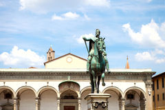 Statue of Ferdinando I de' Medici in Florence Stock Photography