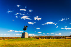 Statue in a field, in Gettysburg, Pennsylvania. Stock Photo