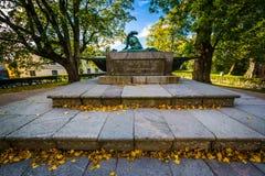 Statue of Field Marshal Augustin Ehrensvärd's grave at Suomenli Stock Photos