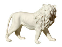 Statue with a figure of a lion Stock Photo