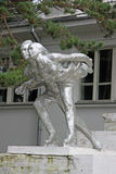 Statue of figure skaters in Khabarovsk park, RUSSIA Stock Photography