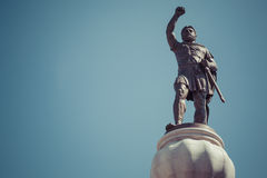 Statue of Filip II, father of Alexander the Great monument, Chur Royalty Free Stock Photos