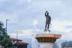 Statue of Filip II in Skopje Stock Photo