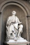 Statue of Filippo Brunelleschi by Luigi Pampaloni. Royalty Free Stock Photos