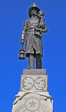 Statue of a fireman Royalty Free Stock Photography
