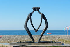 Statue First Love on Seaside in Batumi, Georgia Royalty Free Stock Photography