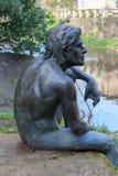 Statue of fish man Royalty Free Stock Image